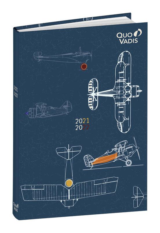 QUO VADIS Agenda scolaire 1 jour par page Eurotextagenda Avion/Liberty 12x17cm Modèles aléatoires