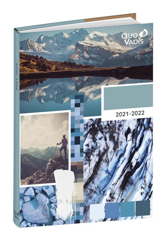 QUO VADIS Agenda scolaire 1 jour par page Eurotextagenda Nature 12x17cm Modèles aléatoires
