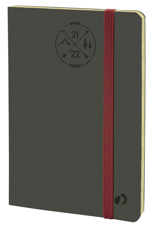 QUO VADIS Agenda scolaire semainier Horizontal 24 SD Everest 16x24cm gris Elast