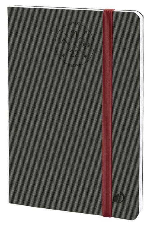 QUO VADIS Agenda scolaire semainier Planning 21 SD Everest 18x24cm gris Elast