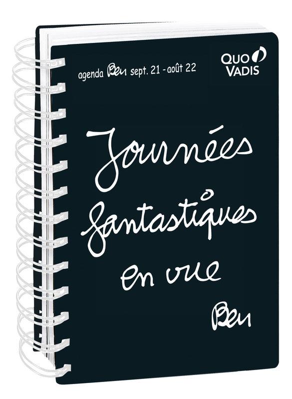 QUO VADIS Agenda scolaire 1 jour par page Textagenda 21S Ben 15x21cm Modèles aléatoires