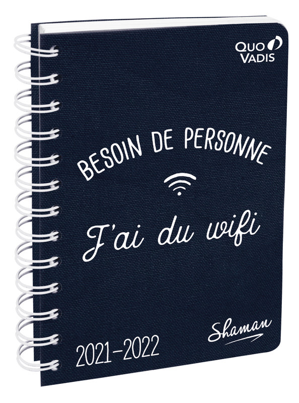QUO VADIS Agenda scolaire 1 jour par page Textagenda Spiralé Shaman 12x17cm Modèles aléatoires