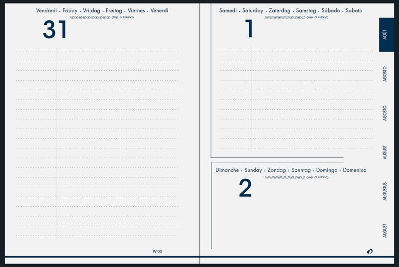 QUO VADIS Agenda scolaire 1 jour par page Eurotextagenda Equology 12x17cm noir
