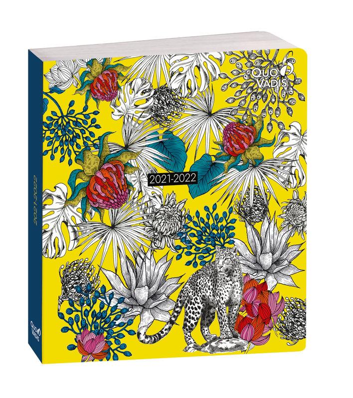 QUO VADIS Agenda scolaire 1 jour par page Plan Day Jungle 16x16cm feuilles