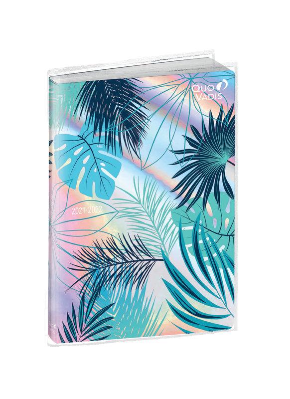 QUO VADIS Agenda scolaire semainier et une page de notes Plan Note ML Jungle 15x21cm feuilles bleues