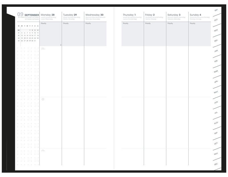 QUO VADIS Agenda scolaire semainier Plan Week ML Billy 16x24cm bleu lavande