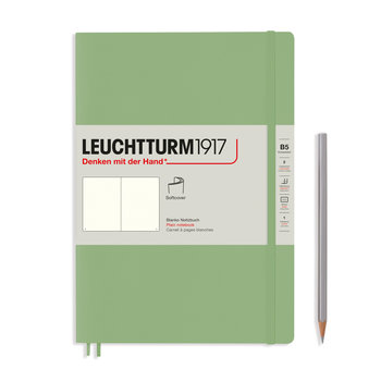 LEUCHTTURM Sauge, Couverture souple, Composition (B5), 123 p., blanc