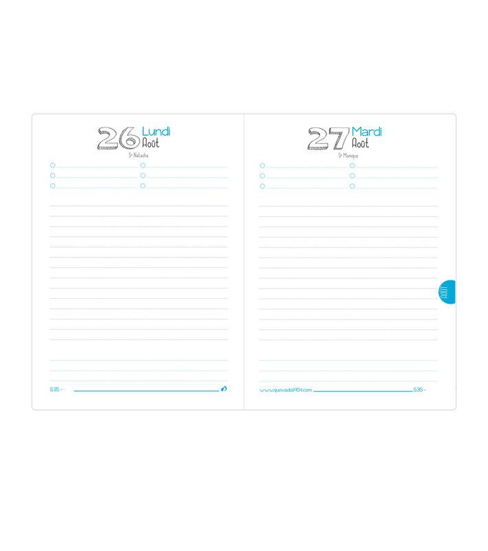 QUO VADIS Agenda scolaire 1 jour par page Textagenda Chi 12x17cm modèles aléatoires