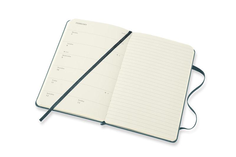 MOLESKINE Agenda 18 Mois Semainier Horizontal + Notes Format de Poche Couverture Rigide HARRY POTTER Vert