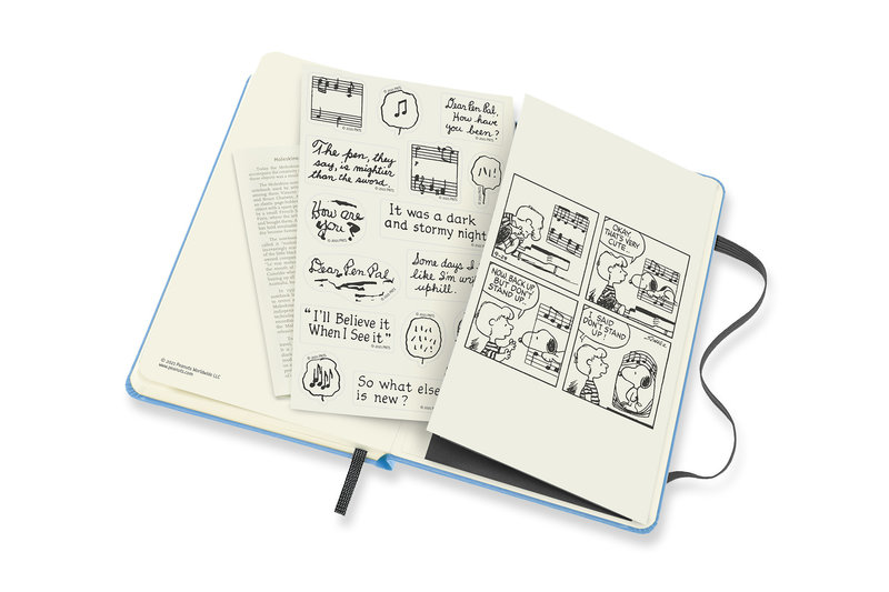 MOLESKINE Agenda 18 Mois Semainier Horizontal + Notes Format de Poche Couverture Rigide PEANUTS