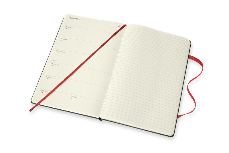 MOLESKINE Agenda 18 mois Semainier Horizontal + Notes Grand Format Couverture Rigide PEANUTS