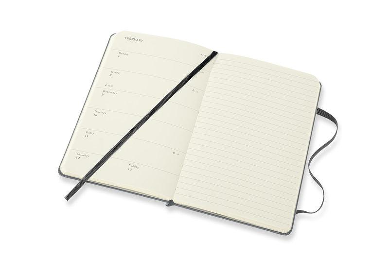 MOLESKINE Agenda 18 Mois Semainier Horizontal + Notes Format de Poche Couverture Rigide PETIT PRINCE Planet
