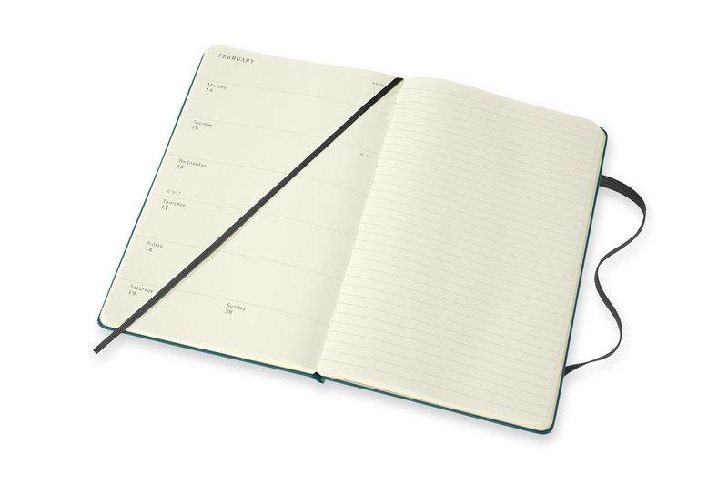 MOLESKINE Agenda 18 mois Semainier Horizontal  + Notes Grand Format Couverture Rigide PETIT PRINCE Vert
