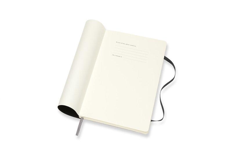 MOLESKINE Agenda 18 Mois Semainier Horizontal + Notes  Grand Format Couverture Souple - NOIR