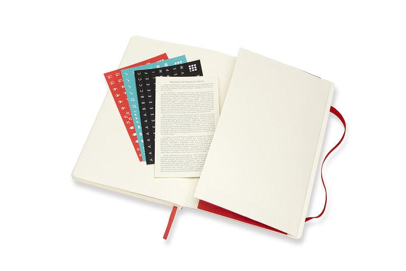 MOLESKINE Agenda 18 Mois Semainier Horizontal + Notes  Grand Format Couverture Souple -  ROUGE ECARLATE