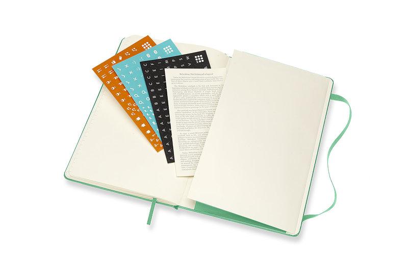 MOLESKINE Agenda 18 Mois Semainier Horizontal + Notes  Grand Format Couverture Rigide - VERT CLAIR