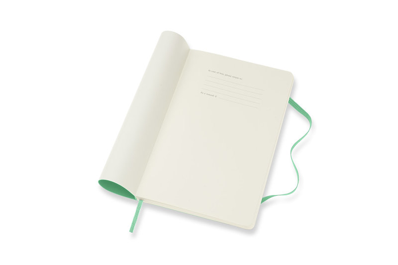 MOLESKINE Agenda 18 Mois Semainier Horizontal + Notes  Grand Format Couverture Souple - VERT CLAIR
