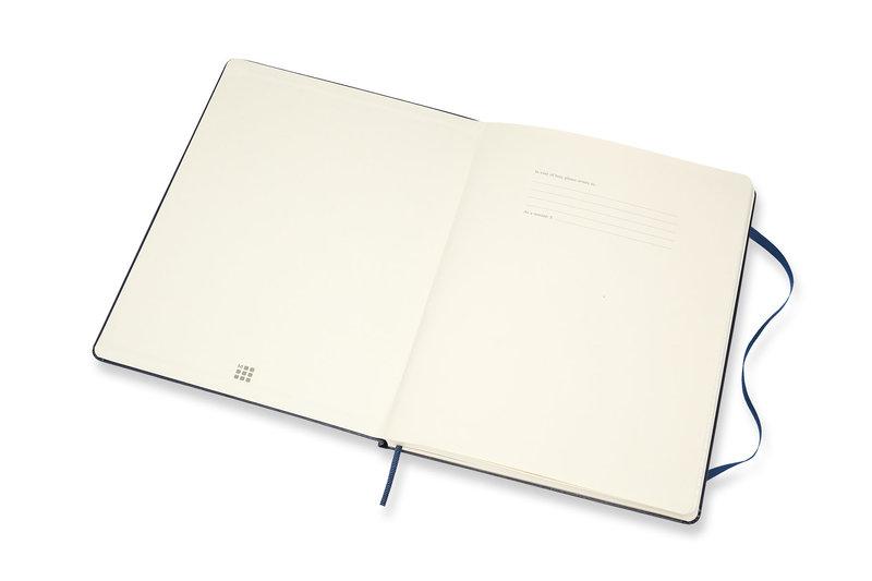 MOLESKINE Agenda 18 Mois Semainier Horizontal + Notes Très Grand Format Couverture Rigide - BLEU SAPHIR