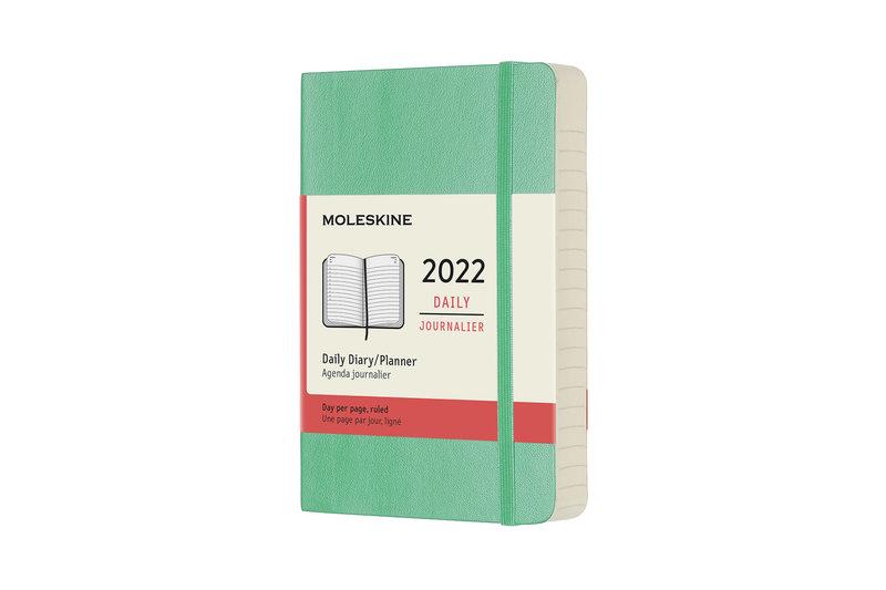 MOLESKINE Agenda Civil 12 Mois Journalier Format de Poche Couverture Souple - VERT CLAIR