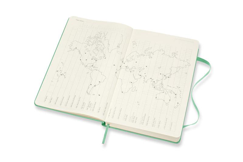 MOLESKINE Agenda Civil 12 Mois Journalier Grand Format Couverture Rigide - VERT CLAIR