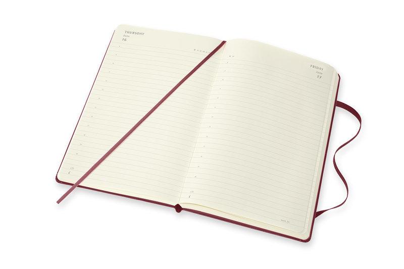 MOLESKINE Agenda Civil 12 Mois Journalier Grand Format HARRY POTTER Couverture Rigide - Rouge