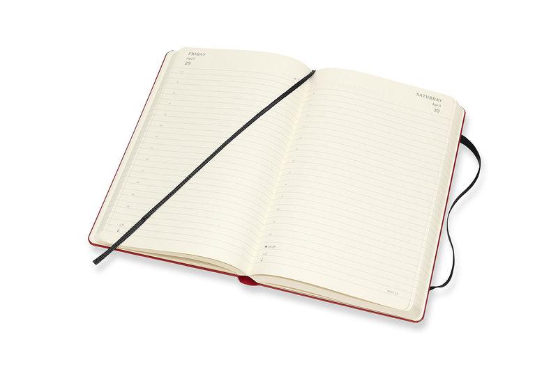MOLESKINE Agenda Civil 12 Mois Journalier Grand Format PEANUTS Couverture Rigide - Rouge