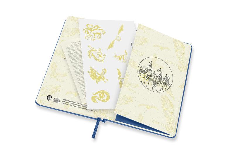 MOLESKINE Agenda Civil 12 Mois Semainier Horizontal + Notes Format de Poche HARRY POTTER Couverture Rigide- Bleu