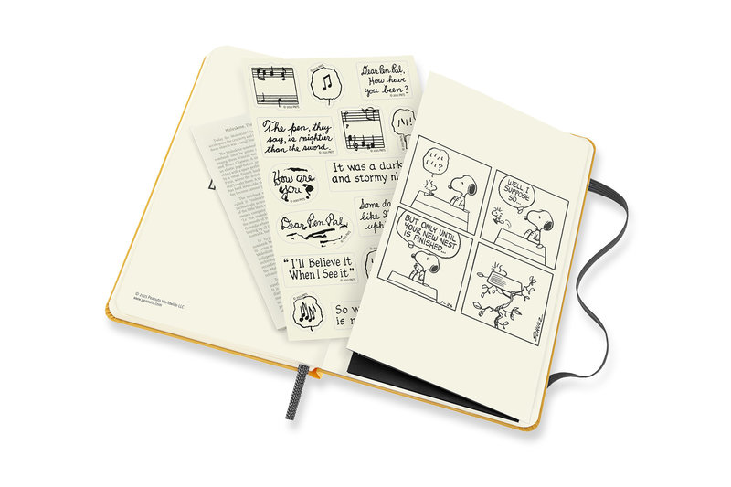 MOLESKINE Agenda Civil 12 Mois Semainier Horizontal + Notes Format de Poche PEANUTS Couverture Rigide- Piano