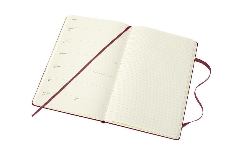MOLESKINE Agenda Civil 12 Mois Semainier Horizontal + Notes Grand Format HARRY POTTER Couverture Rigide - Rouge