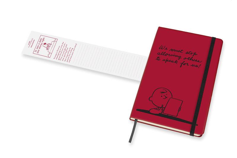 MOLESKINE Agenda Civil 12 Mois Semainier Horizontal + Notes Grand Format PEANUTS Couverture Rigide - Rouge