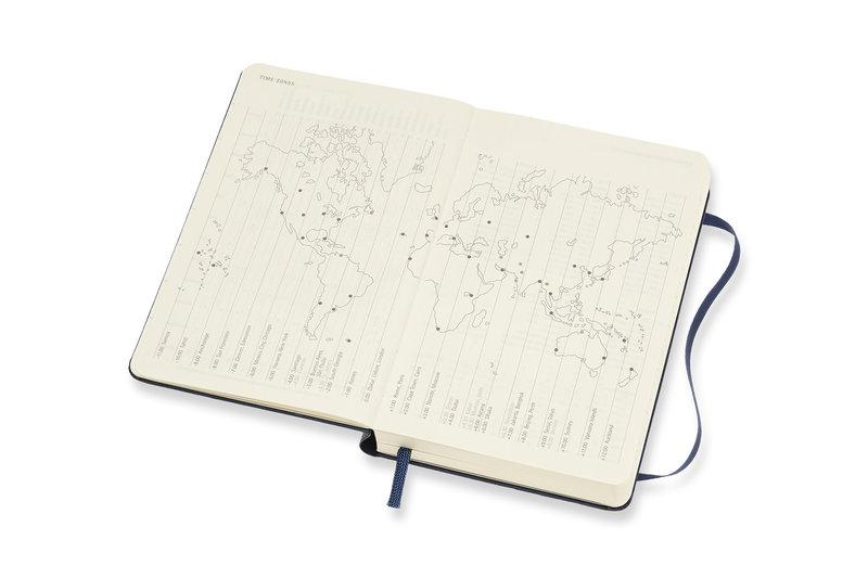 MOLESKINE Agenda Civil 12 Mois Journalier Format de Poche Couverture Rigide - BLEU SAPHIR