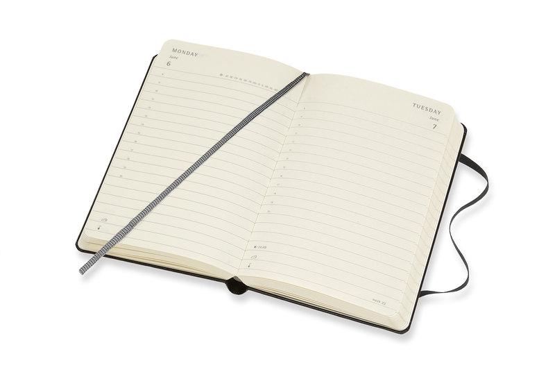 MOLESKINE Agenda Civil 12 Mois Journalier Format de Poche Couverture Rigide - NOIR
