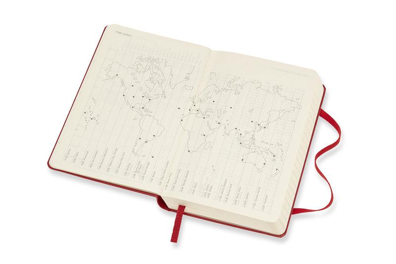 MOLESKINE Agenda Civil 12 Mois Journalier Format de Poche Couverture Rigide - ROUGE ECARLATE