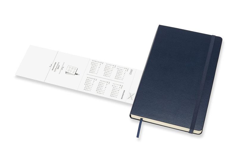 MOLESKINE Agenda Civil 12 Mois Journalier Grand Format Couverture Rigide - BLEU SAPHIR