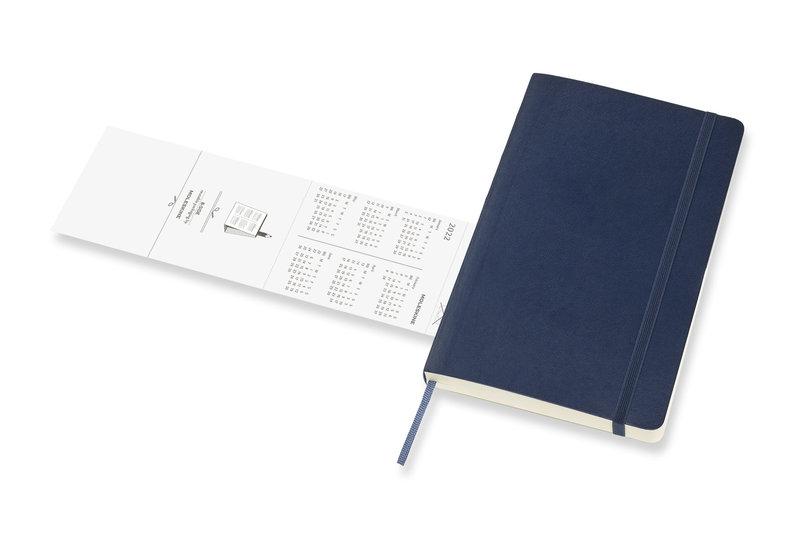 MOLESKINE Agenda Civil 12 Mois Journalier Grand Format Couverture Souple - BLEU SAPHIR