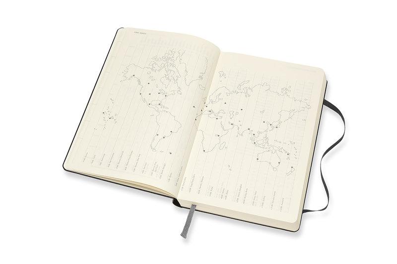 MOLESKINE Agenda Civil 12 Mois Journalier Grand Format Couverture Rigide - NOIR