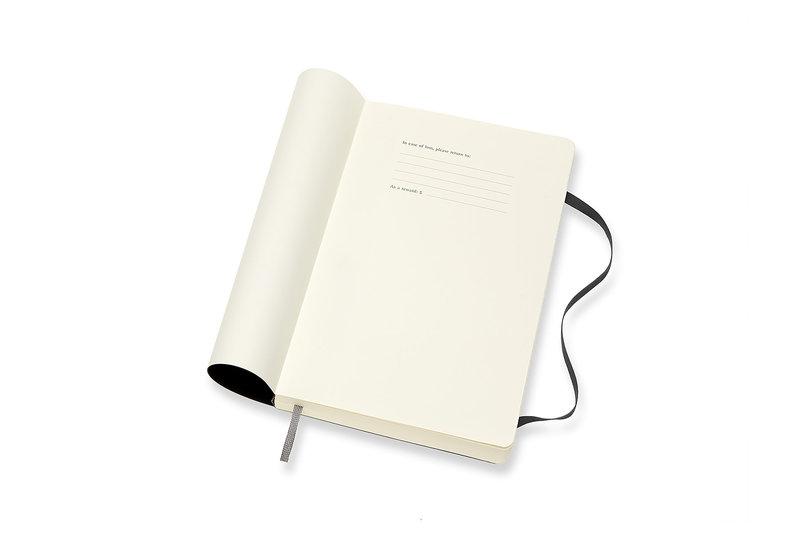 MOLESKINE Agenda Civil 12 Mois Journalier Grand Format Couverture Souple - NOIR
