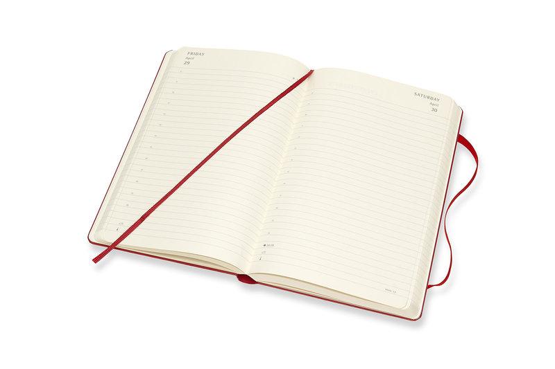 MOLESKINE Agenda Civil 12 Mois Journalier Grand Format Couverture Rigide - ROUGE ECARLATE