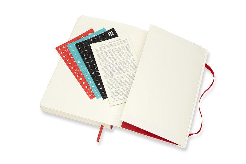 MOLESKINE Agenda Civil 12 Mois Journalier Grand Format Couverture Souple - ROUGE ECARLATE