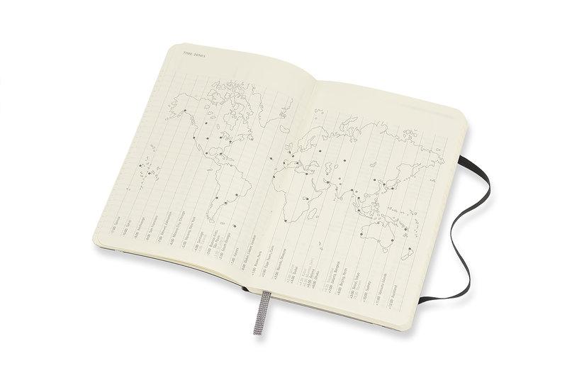 MOLESKINE Agenda Civil 12 Mois Semainier Horizontal + Notes Format de Poche Couverture Souple - NOIR