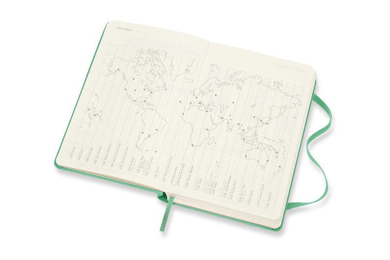 MOLESKINE Agenda Civil 12 Mois Semainier Horizontal + Notes Format de Poche Couverture Rigide - VERT CLAIR