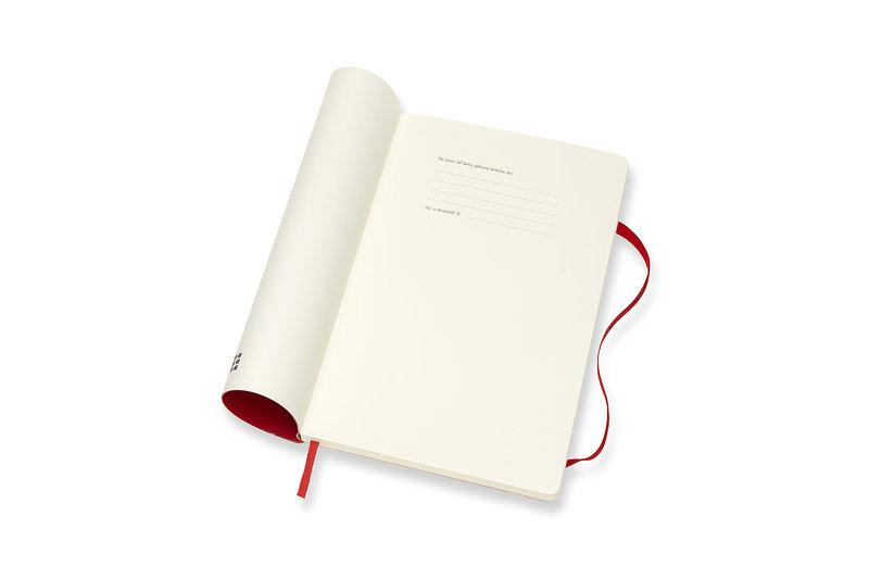 MOLESKINE Agenda Civil 12 Mois Semainier Horizontal + Notes Grand Format Couverture Souple - ROUGE ECARLATE