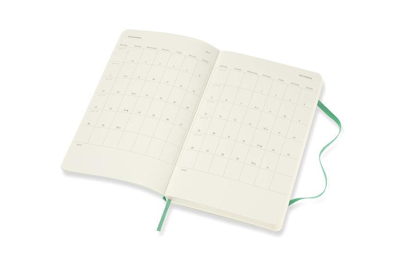 MOLESKINE Agenda Civil 12 Mois Semainier Horizontal + Notes Grand Format Couverture Souple - VERT CLAIR