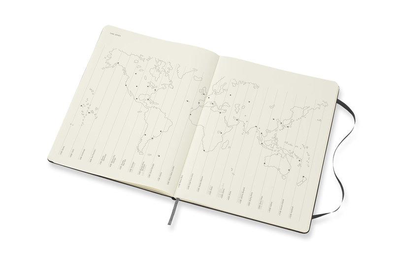 MOLESKINE Agenda Civil 12 Mois Semainier Horizontal + Notes Très Grand Format Couverture Rigide - NOIR