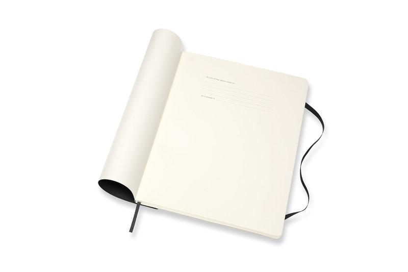 MOLESKINE Agenda Civil 12 Mois Semainier Horizontal + Notes Très Grand Format Couverture Souple - NOIR