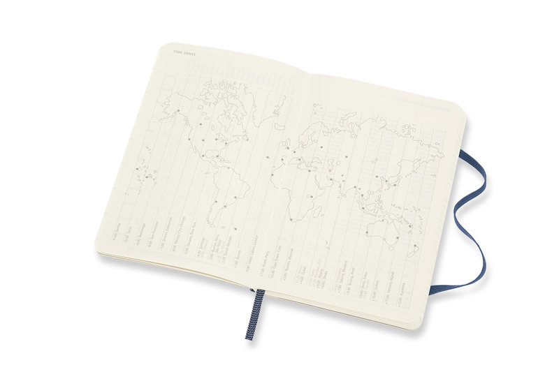 MOLESKINE Agenda Civil 12 Mois Semainier Horizontal Format de Poche Couverture Souple - BLEU SAPHIR