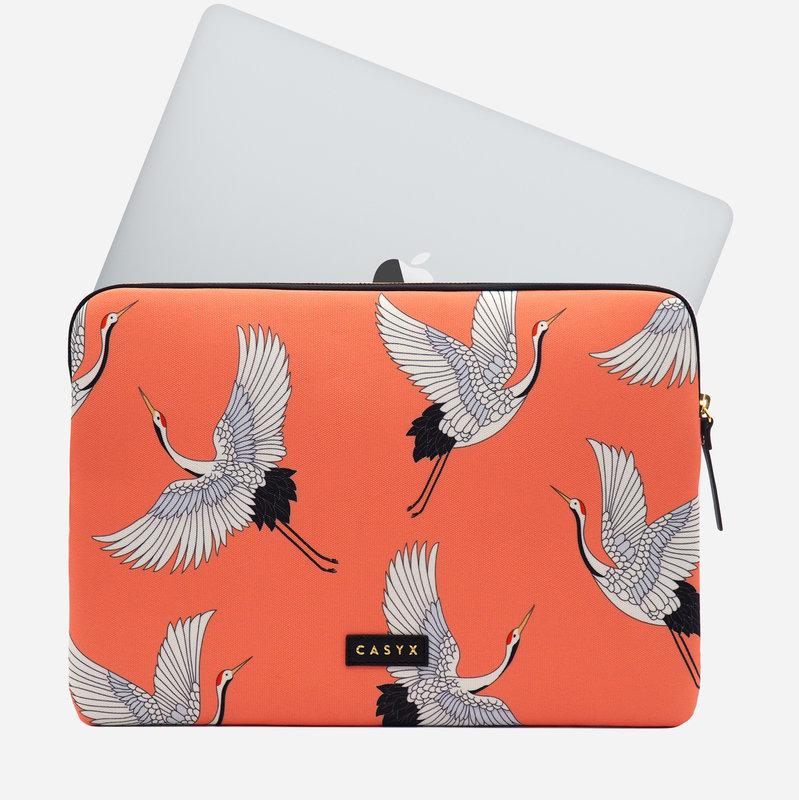 """CASYX Housse pour ordinateur 13"""" Coral Cranes"""
