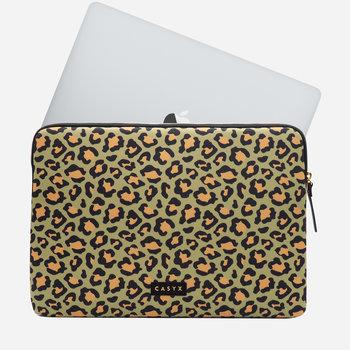 """CASYX Housse pour ordinateur 15"""" Olive Leopard"""