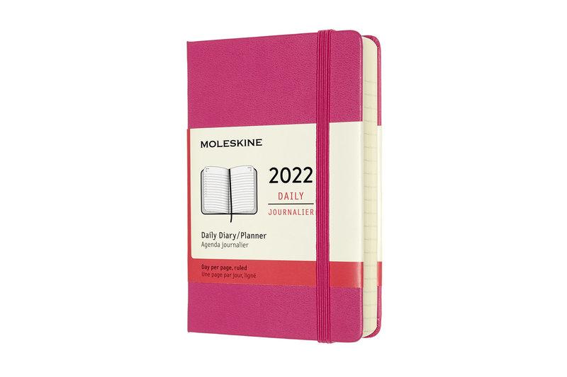 MOLESKINE Agenda Civil 12 Mois Journalier Format de Poche Couverture Rigide - ROSE BOUGAINVILLIER