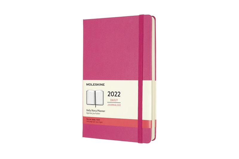 MOLESKINE Agenda Civil 12 Mois Journalier Grand Format Couverture Rigide - ROSE BOUGAINVILLIER